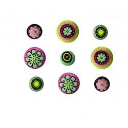 Botones bordados Love