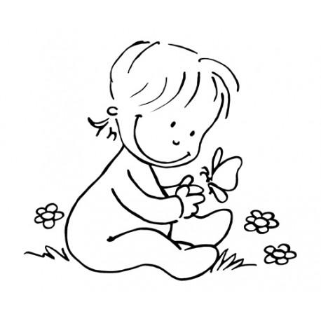 Sello bebé mariposa