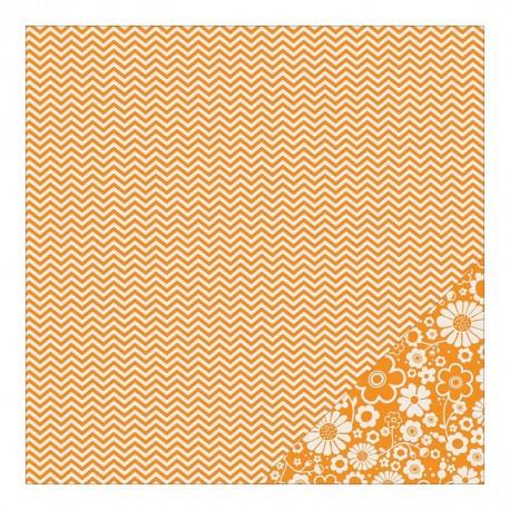 Basics - Apricot Chevron