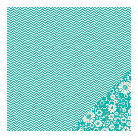 Basics - Aqua Chevron
