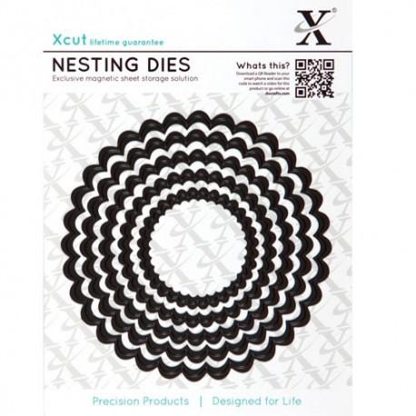 Xcut Nesting Dies - Scalloped Circle