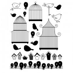 Artemio Sellos acrílicos de silicona transparente Pájaros (10001188)