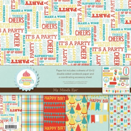 Kit scrapbooking para cumpleaños Hip Hooray Boy de My Mind's Eye