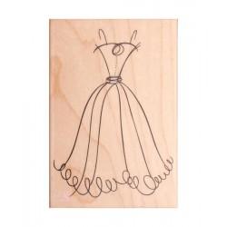 Sello Caucho Vestido de novia