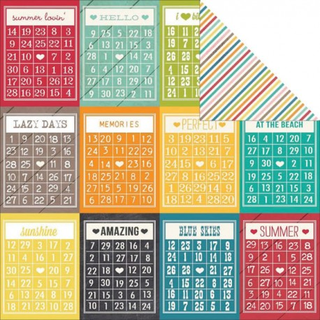 I Heart Summer - Bingo Cards