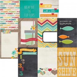 I Heart Summer - 4x6 Vertical Journaling Cards