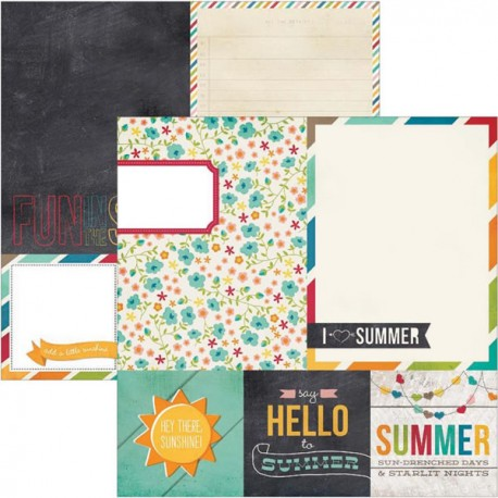 I Heart Summer - 4X4 Quote 6x8 photo mats