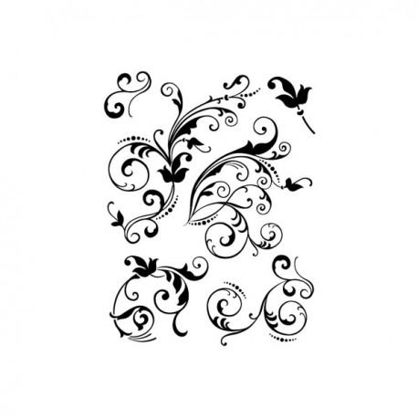 Surtido sellos arabescos florales