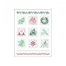 Surtido sellos patchwork de Navidad