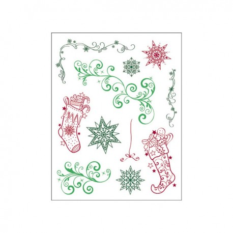 Surtido sellos calcetines navideños