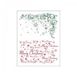 Surtido sellos estrella de Navidad
