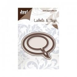 Troquel Labels & Tags - bocadillos ovalados
