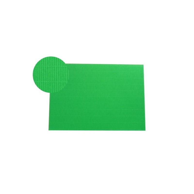 Hoja A4 micro-ondulado verde prado