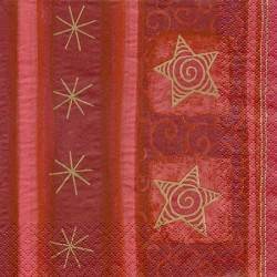 Servilleta decorativa para decoupage realizada en celulosa de tres capas. Modelo: estrellas de fiesta