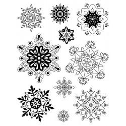 Sellos acrílicos Copos de nieve