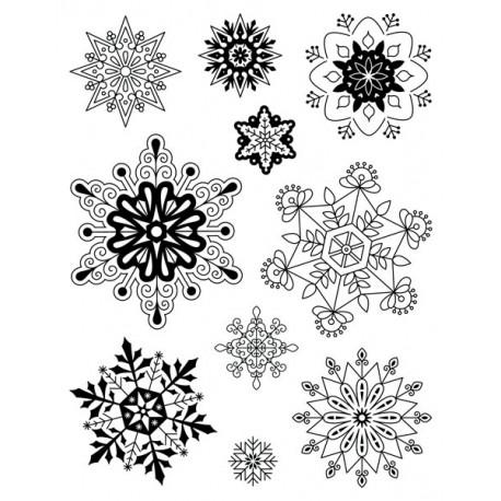 Artemio Sellos de silicona transparente Copos de nieve (10001295)