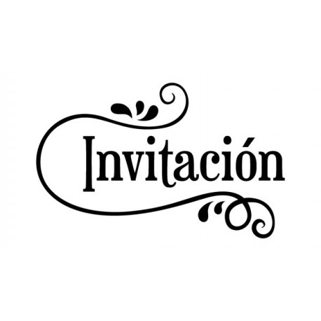 Sello caucho Invitación