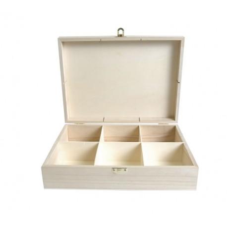 Caja de Té madera grande