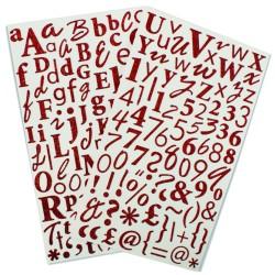 Glitter Sticker Alfa - Rojo