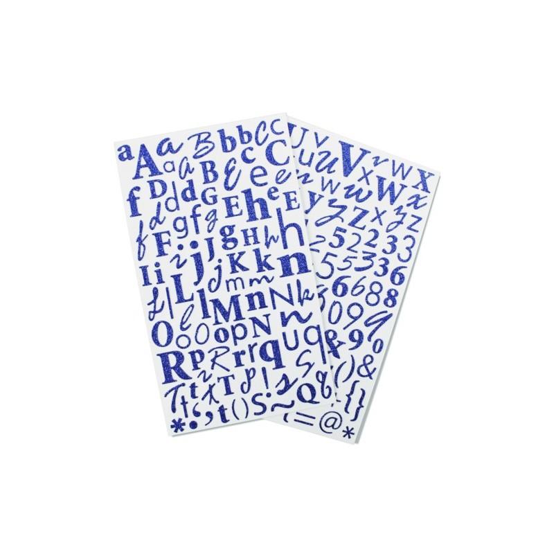 Glitter Sticker Alfa - Azul