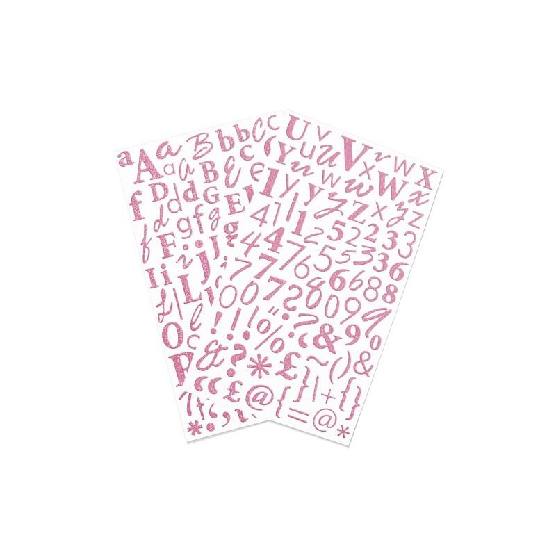 Glitter Sticker Alfa - Rosa