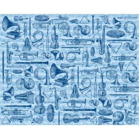 Papel decorado para decoupage Artepatch de Artemio modelo instrumentos musicales