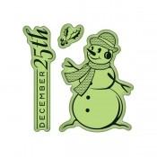 Sello Mini Cling - Snowman