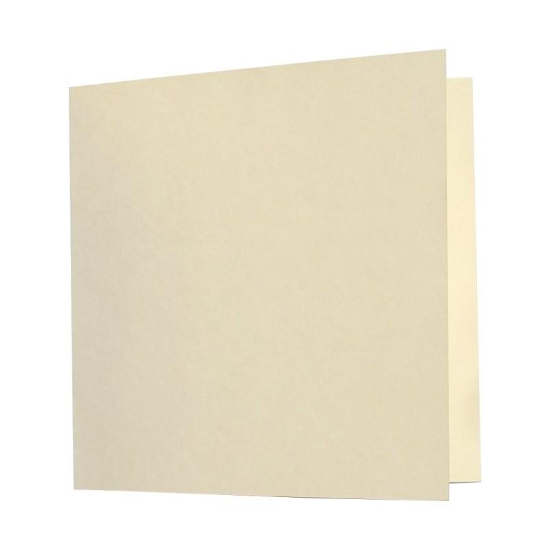 Tarjeta Pollen Plegada 160x160 marfil