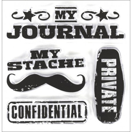 Clear Mini Stamps - Personal Stache