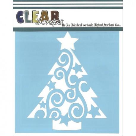Template 6X6 - Swirl Christmas Tree