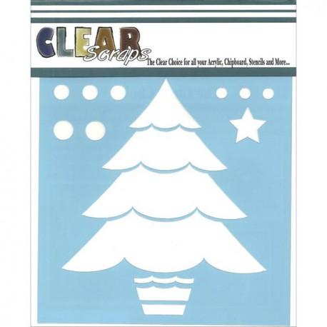 Template 6X6 - Layered Christmas Tree