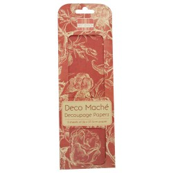Papel Decoupage Deco Maché Red Roses