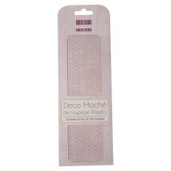 Papel decorado para la técnica del decoupage Deco Maché first Edition Pastel Polka