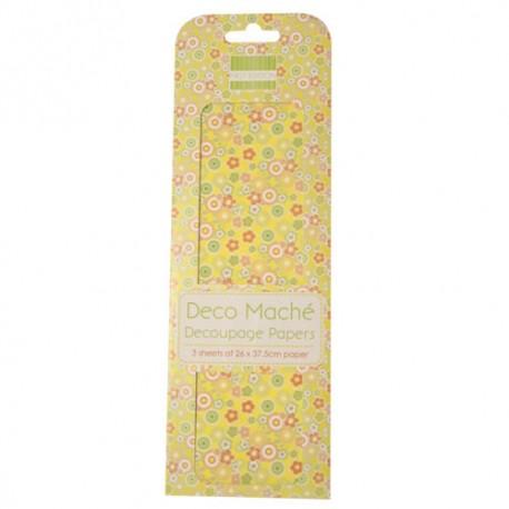 Papel decorado para la técnica del decoupage Deco Maché first Edition Disty Floral