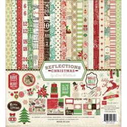 Kit para scrap de temática navideña Reflections Christmas de la marca Echo Park