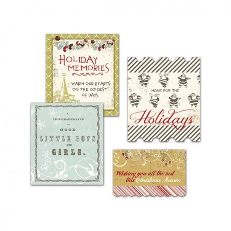 Merry Little Christmas Cardstock Title Pieces