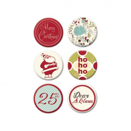 Merry Little Christmas Flair Embellishments