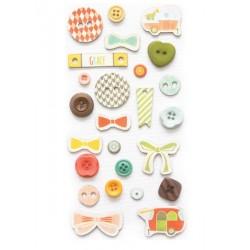 Happy-Go-Lucky Button Set