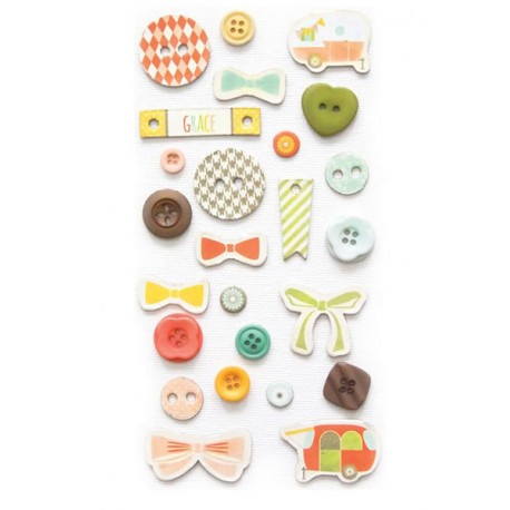 Happy-Go-Lucky Button Set