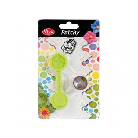 Cortador y molde Patchy Botón Flor