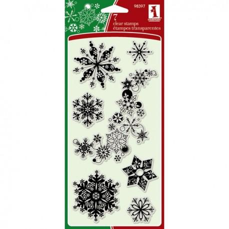 Sello Acrilico - Snowflakes A Plenty