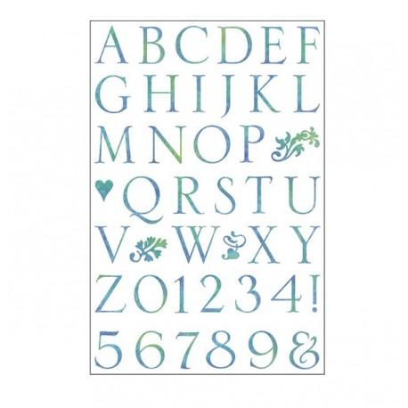 Sellos acril. Alfabeto - Somerset
