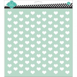 Template 12X12 -Tiny Hearts