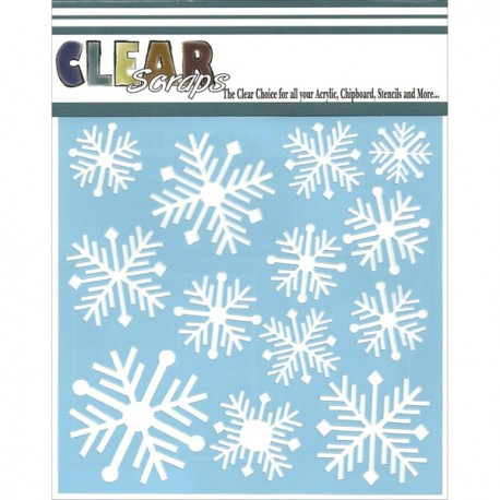Template 6x6 - Nordic Snowflakes
