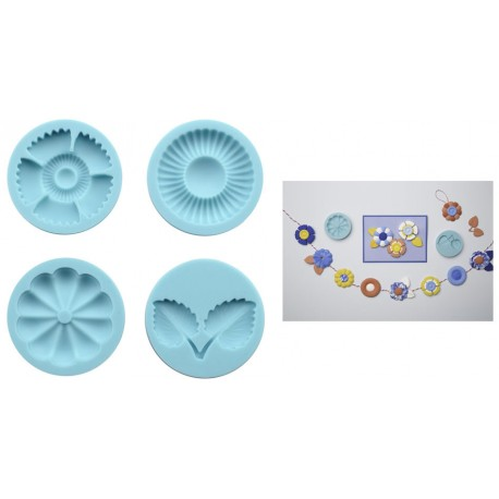 Clay Silicone Mold - Graceful Bloom
