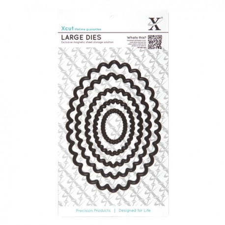 Xcut Nesting Dies - Scalloped oval