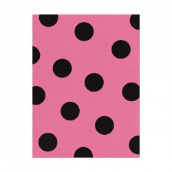 Fieltro estampado - Large Dot Candy Pink