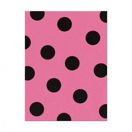 Fieltro estampado - Large Dot Candy Pink