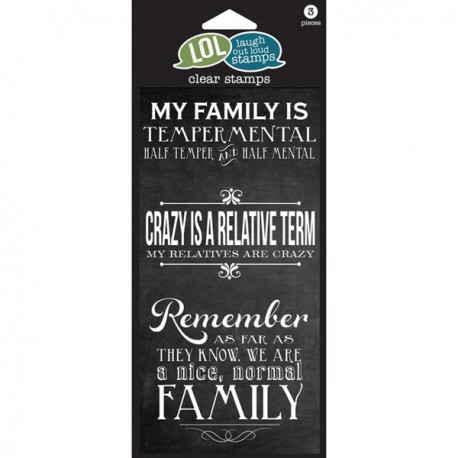 Clear Stamps Crazy Family