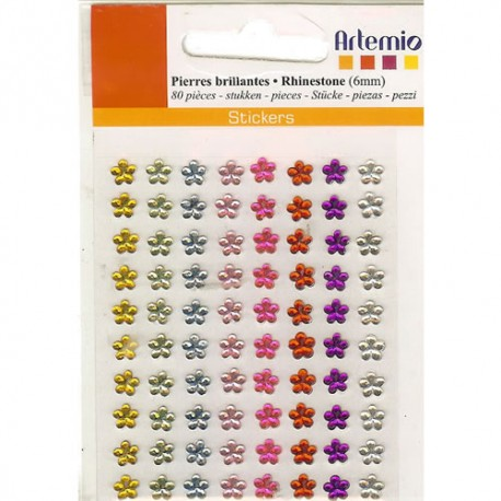 Strass Autoadhesivo Flores 6mm